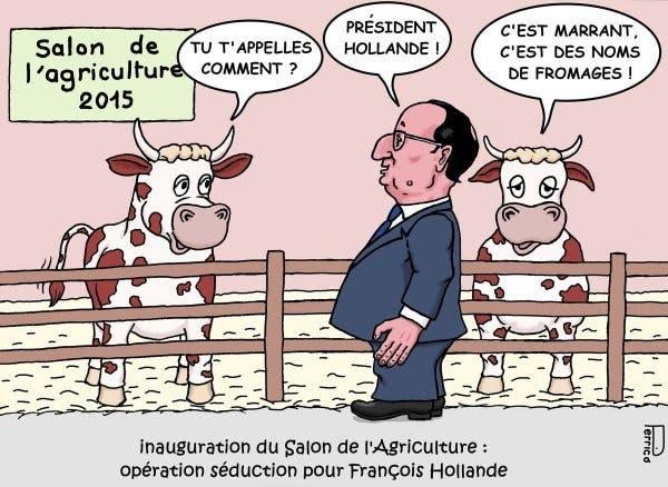 Fran ois hollande le bienheureux roi des menteurs la for Salon agriculture bruxelles