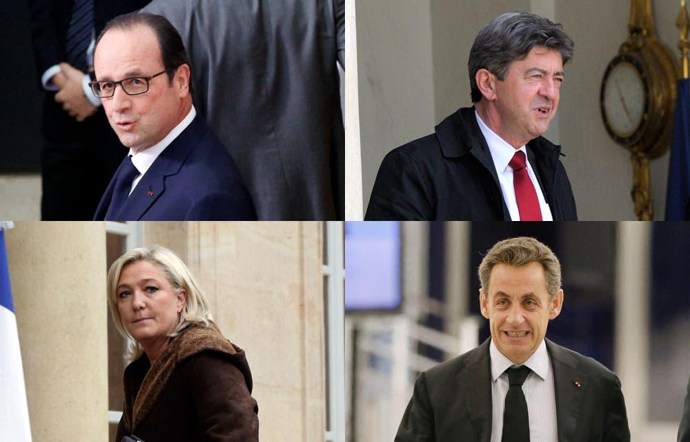 Sarkozy-Hollande-Melenchon-Le-Pen