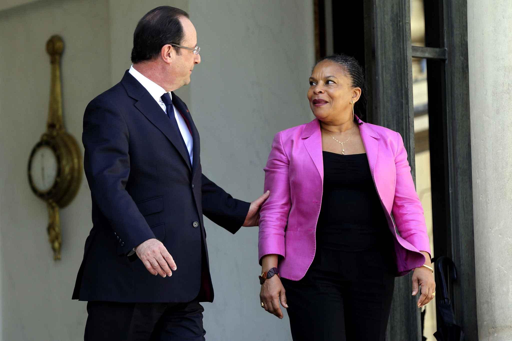 Hollande Taubira DR