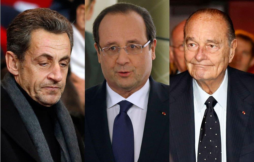Sarkozy-Hollande-Chirac