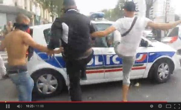 policiers tabassés