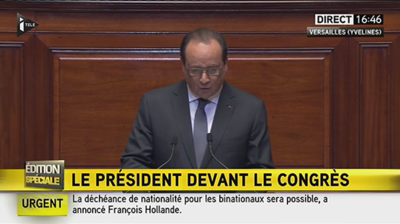 François Hollande Congrès Attentat Paris