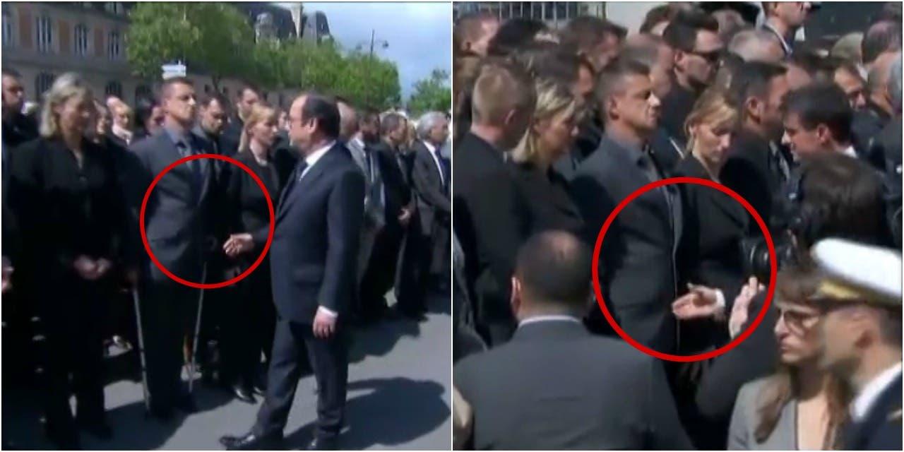 VIDEO-Un-policier-refuse-de-serrer-la-main-de-Hollande-et-Valls-pendant-l-hommage-aux-policiers-tues-a-Magnanville