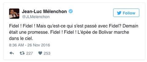 tweet-melenchon-mort-castro