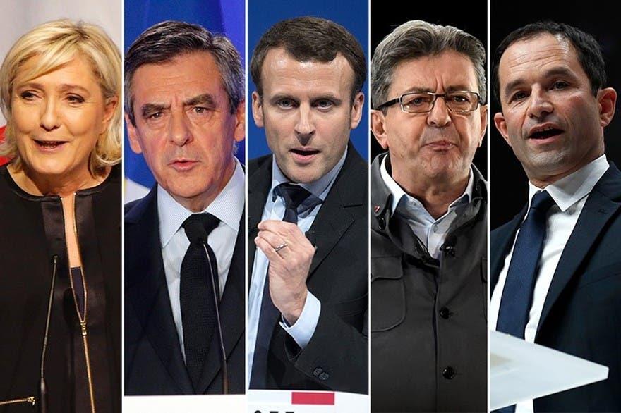 le-pen-francois-fillon-emmanuel-macron-jean-luc-melenchon-et-benoit-hamon