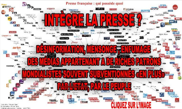 Intégrité de la presse, des médias