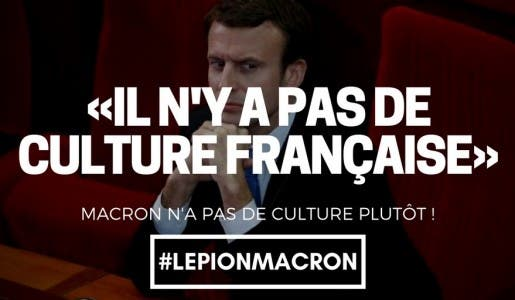 Emmanuel Macron déclare à Londres : « L'art français, je ne l'ai jamais vu »