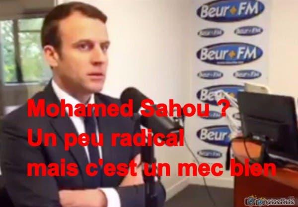 Pensant être hors antenne à Beur FM, Emmanuel Macron soutient l'islamiste Mohamed Saou