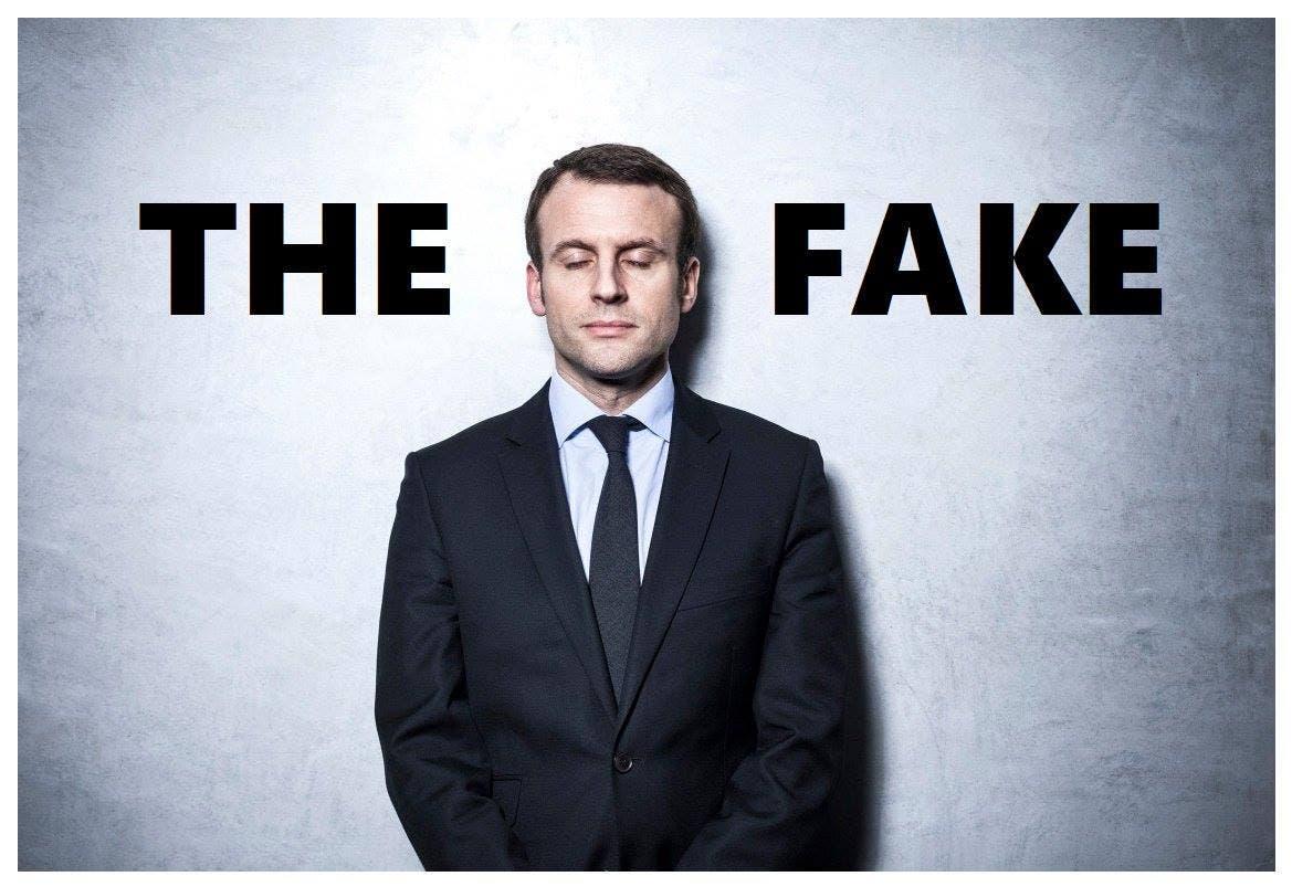 macron fake