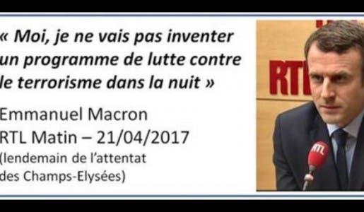 Contre les terroristes islamistes, les Français sont priés de s'armer de patience, Macron peut pas tout faire