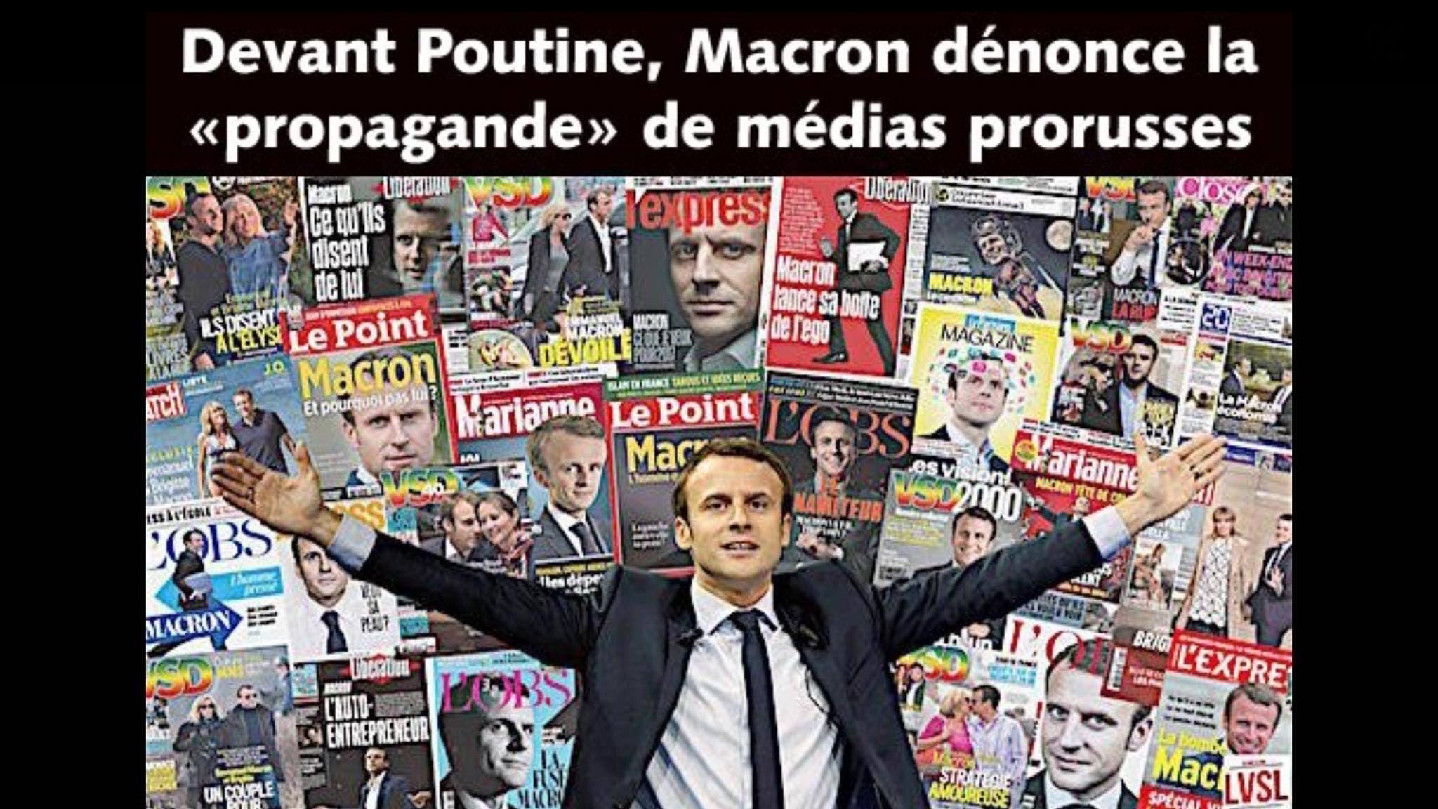 macron propagande