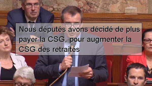 Vote De La Suppression De La Csg Pour Les Deputes Et Hausse Pour Les