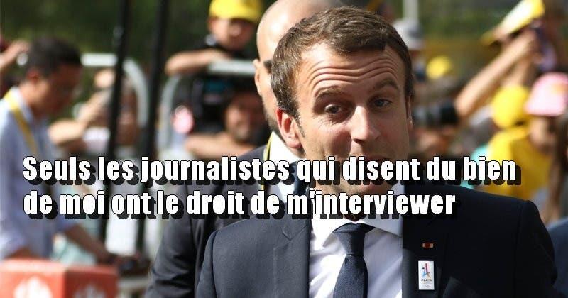 macron journaliste