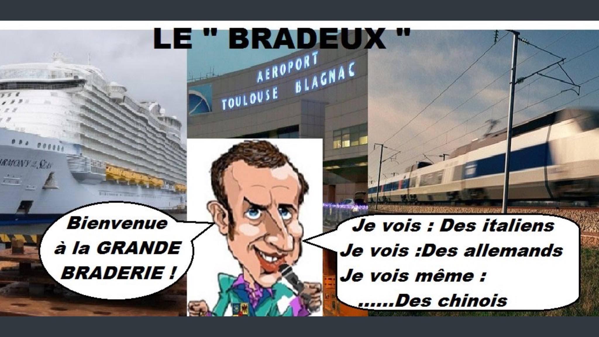 Macron brade