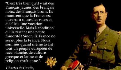 Il faut rendre à notre pays son identité Française