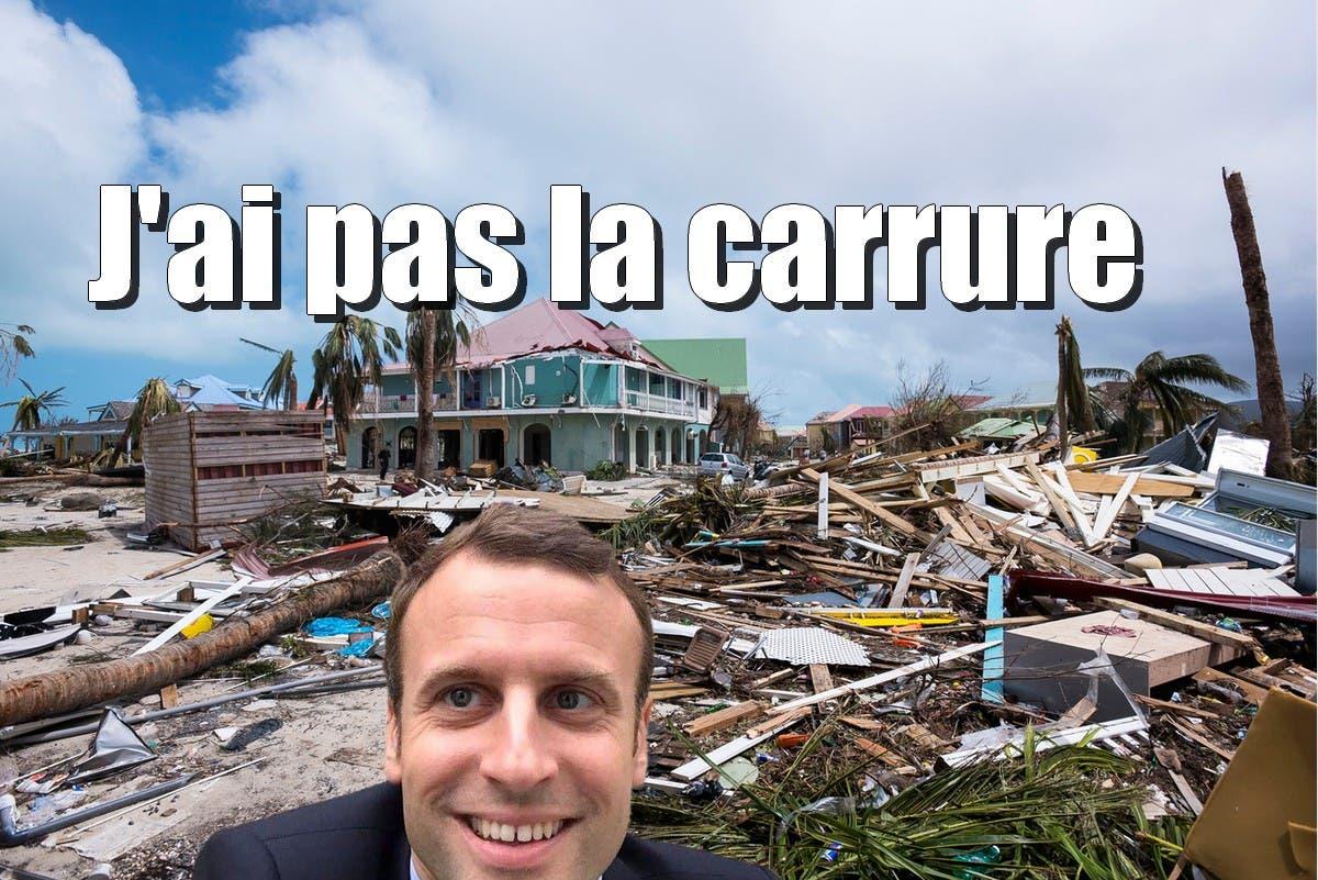 Trump Saint Martin Cyclone Irma Emmanuel Macron N A Pas 233 T 233 224 La Hauteur De