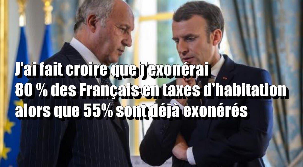 Macron la poudre aux yeux sur la suppression de la taxe d habitation 80 des fran ais puisque - Exoneration taxe habitation si non imposable ...