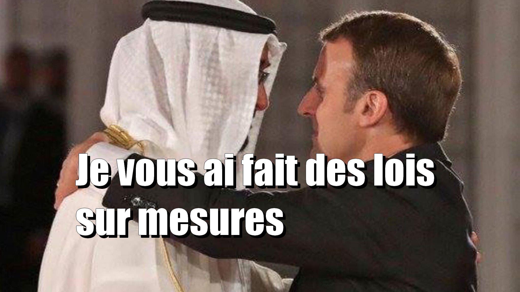 macron arabe