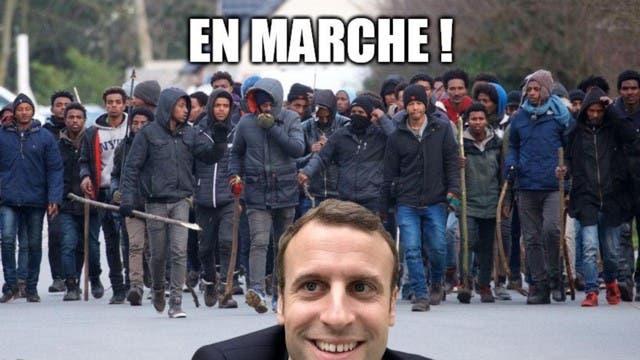 en marche migrants