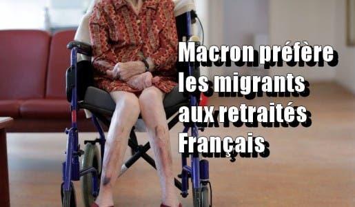 La France de Macron aux petits soins avec les jeunes migrants, mais laisse tomber ses personnes âgées