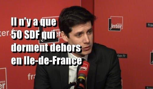 Pour un ministre du gouvernement Macron il n'y a que « 50 SDF isolés à la rue en Ile-de-France »