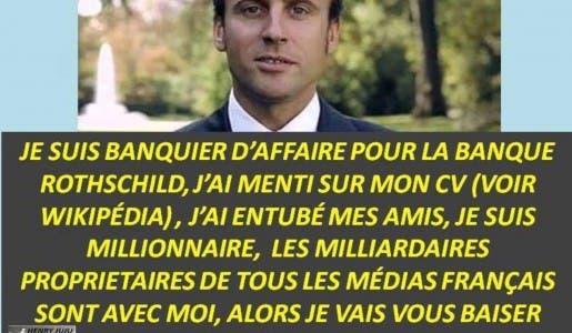 Macron n'aime pas les pauvres avant tout s'ils sont Français !