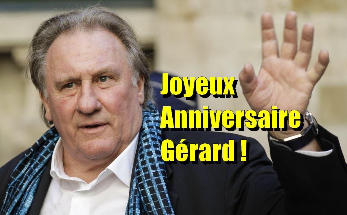 Joyeux Anniversaire M Gerard Depardieu L Acteur Francais Fete Ses