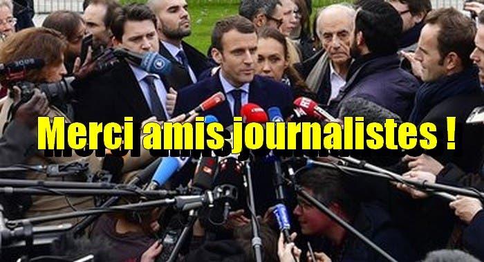 journalistes macron