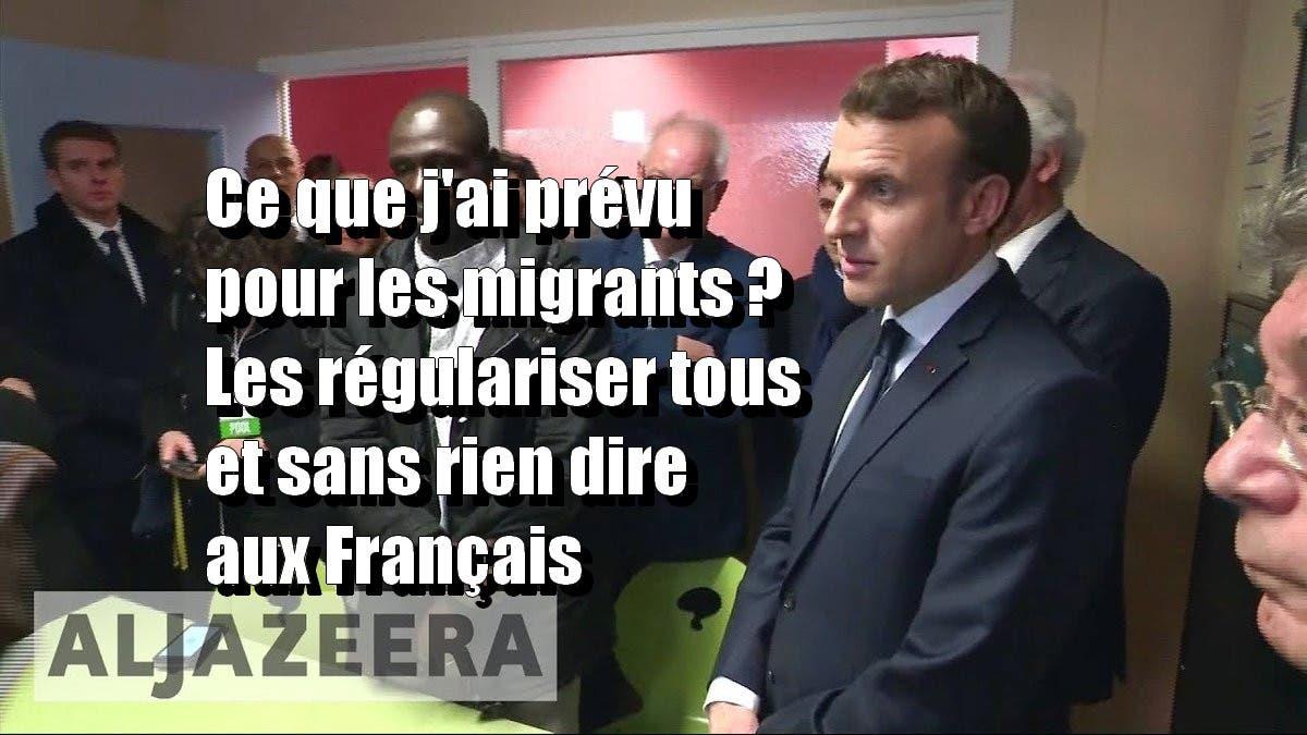 macron-migrants-régulariser