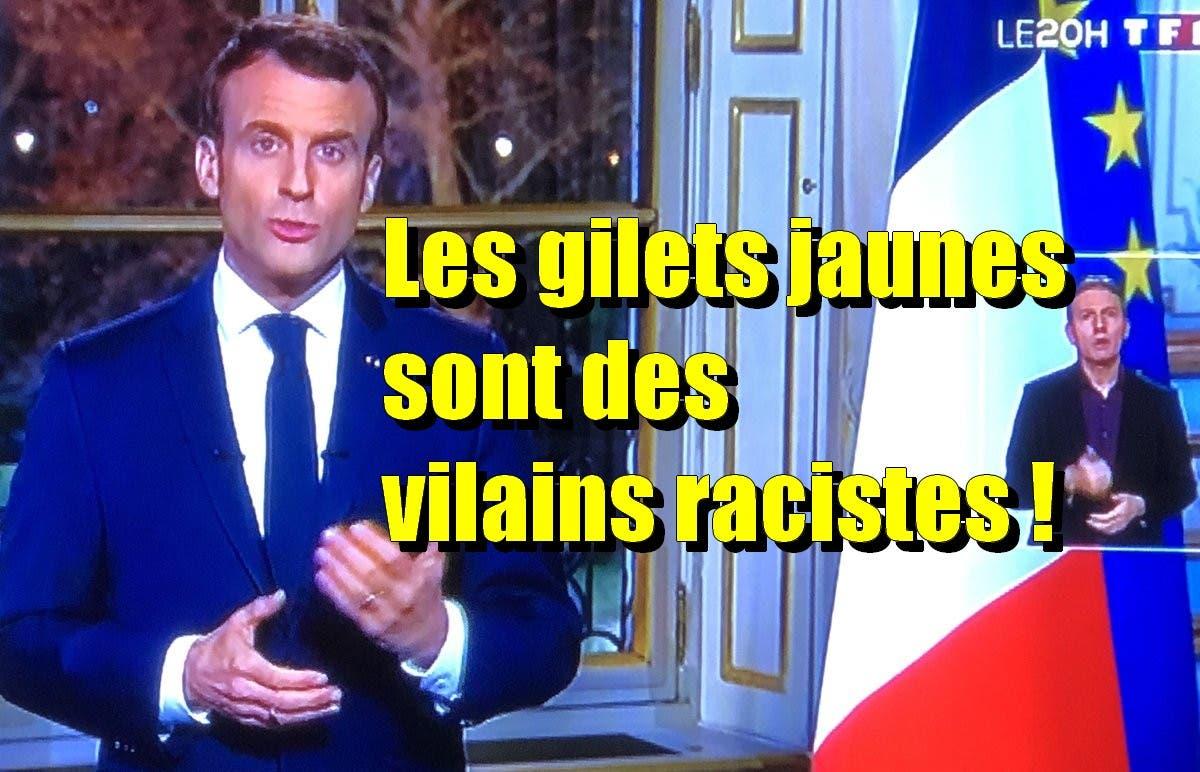macron racistes
