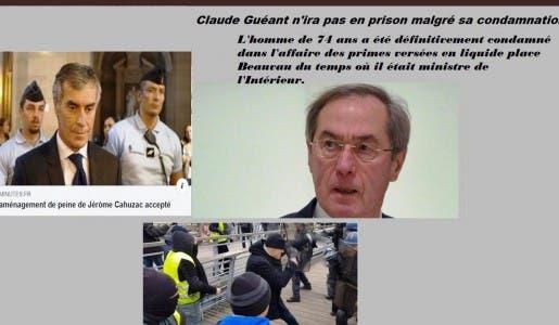 C'est officiel Jérôme Cahuzac n'effectuera pas un jour de prison, Christophe Dettinger y dormira tous les soirs !