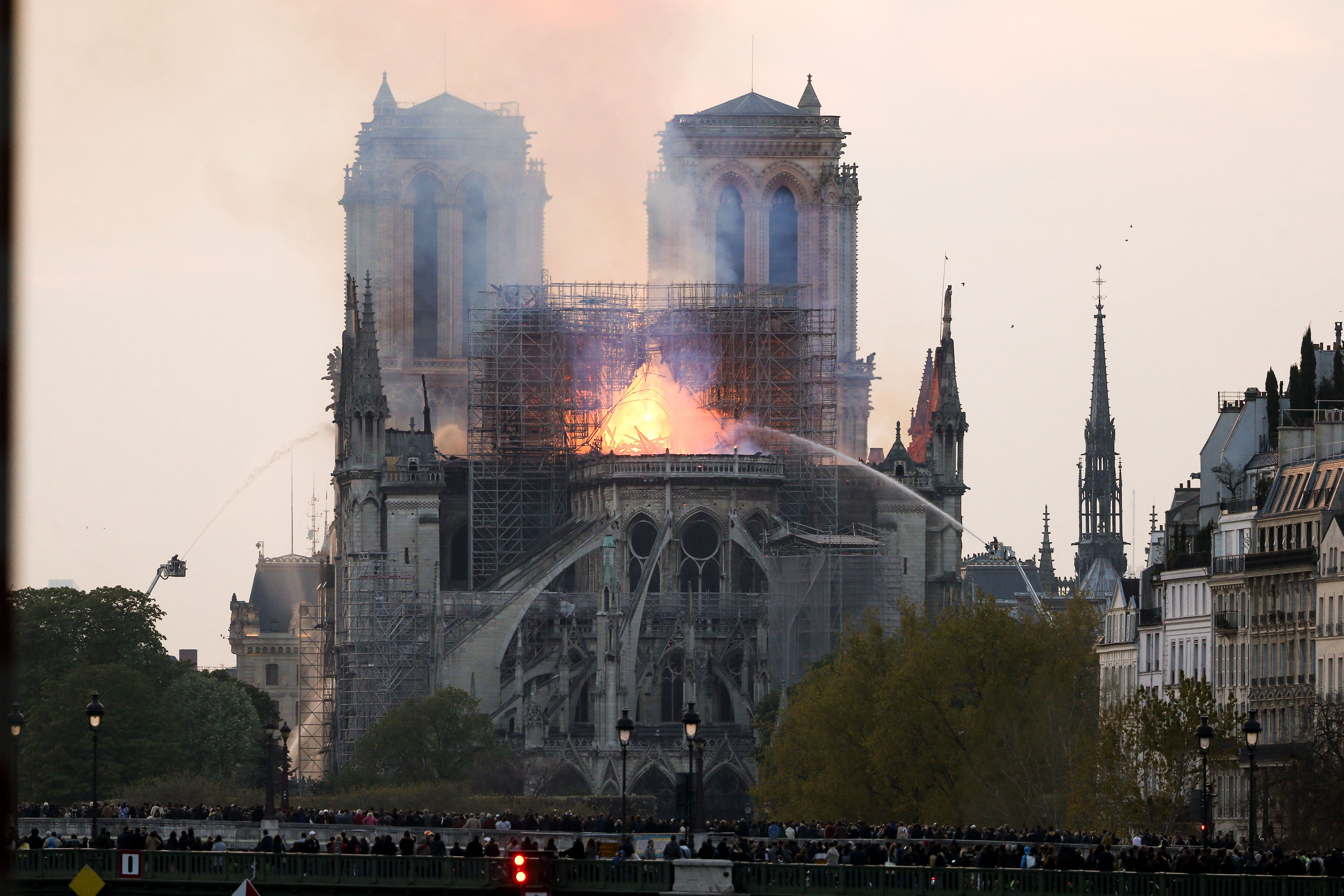 Fire Breaks Out At Iconic Notre-Dame Cathedral In Paris