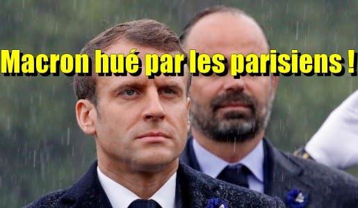 Macron a été hué par les parisiens lors de la cérémonie du 8 mai aux Champs-Elysées